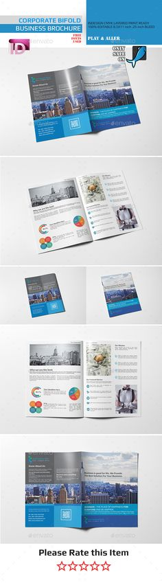 Bifold Business Brochure Template InDesign INDD #design Download: http://graphicriver.net/item/bifold-business-brochure/14348574?ref=ksioks