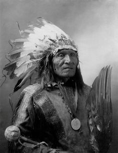 Sioux Native American Portrait, Chief He Dog, 1900