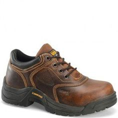 CA1625 Carolina Men's Women's Broad Toe ESD Safety Oxford - Brown www.bootbay.com
