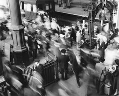 Rush Hour At Victoria Station Bob Collins Ca 1960s
