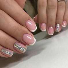 What Christmas manicure to choose for a festive mood - My Nails Pretty Nails, Cute Nails, Neutral Nail Art, Manicure, Nagellack Design, Wedding Nails Design, French Tip Nails, Bridal Nails, Perfect Nails