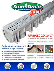 StormDrain Plus Surface Water Drainage Solution | Fernco   US