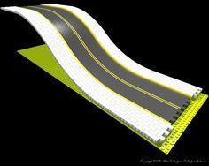 Misc Custom LEGO Roads; Flexible LEGO slope road