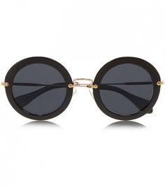 5d54a464b988c9 Miu Miu Round-Frame Acetate Sunglasses Ray Ban Sunglasses Sale