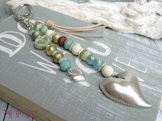 Schlüsselanhänger+★+Taschenbaumler+★+Herz+Seaglas+von+Only_+for_+you++auf+DaWanda.com