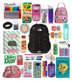"""all the random things girls have in their backpacks...."" by emilyamick on Polyvore featuring beauty, The North Face, Vera Bradley, CamelBak, Speck, Paper Mate, Sharpie, Casio, Pusheen and Maybelline"