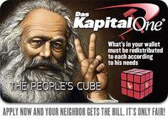 Das Kapital One People's Cube Card - Marx