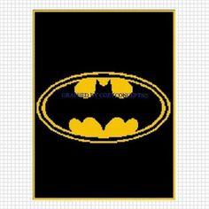 COZYCONCEPTS BATMAN WINGS BLACK CROCHET PATTERN AFGHAN  GRAPH .PDF