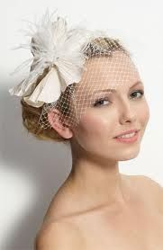 Head band bird cage veil