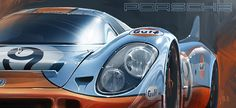 "Porsche 917 Gulf  13"" x 19"" Ultra Satin Photo Paper  2"" Authentic Silver Foil GYOONIT Emboss  *Not for Sale"
