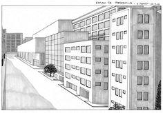 Desenho do Dia #33 - Estudo de Perspectiva de 1-Ponto - Soraia Casal