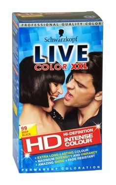 Schwarzkopf live color xxl hd hair colour 99 deep black