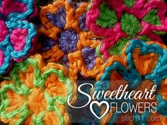 Make It Crochet | Your Daily Dose of Crochet Beauty | Free Crochet Pattern: Sweetheart Flowers