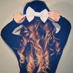 I love curly hair and I love bows! <3