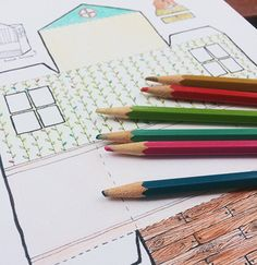 Taproot Paper Doll House Coloring Page