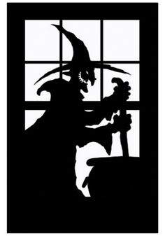 fall Silhouettes | Haunted House Silhouette