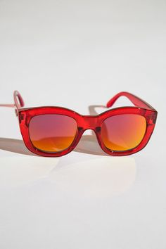 5cb3ac5ffde red orange plastic oversized sunglasses from le specs.