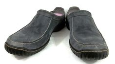 Clarks Walking Loafers Gray Leather Slip On Comfort Shoes Womens Size 10 M #Clarks #LoafersMoccasins