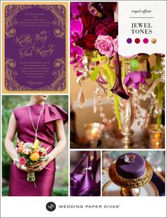 Satins and silks look utterly luxe in rich jewel tones like amethyst and garnet. Pair these hues with brass and gold details for a regal affair.