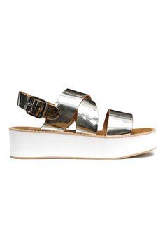 Sandálias de plataforma | H&M