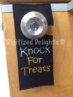 Set of 6 Door Hanger Hang Tag In The Hoop Embroidery Design