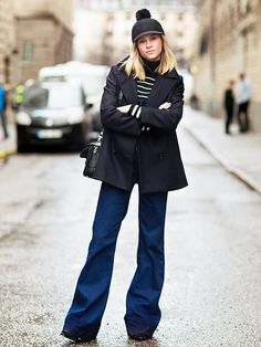 An+Eye-Catching+Approach+to+Flared+Jeans+via+@WhoWhatWear