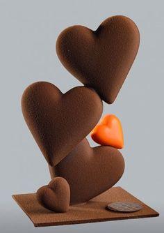 galler-saint-valentin Death By Chocolate, Like Chocolate, Homemade Chocolate, Valentine History, Valentine Images, Saint Valentine, Valentines Diy, Chocolates, Chocolate Showpiece