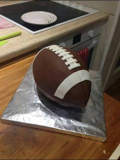 American Football Cake Grid Iron Ball Cake Football Cake