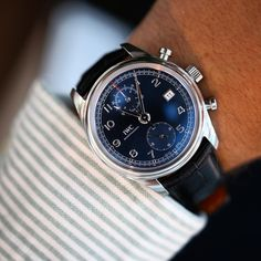 """IWC Schaffhausen på Instagram: """"We just spotted this beautiful #IWC Portugieser Chronograph Classic Edition """"Laureus Sport For Good Foundation"""" launched back in 2014. What is on your wrist today? #IWCwristshot"""""""