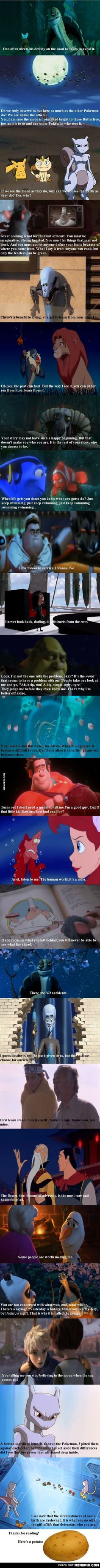 """Awesome quotes from what are apparently """"children's"""" movies."""