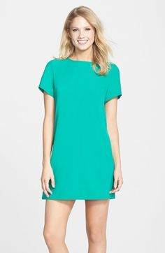 $88, Felicity Coco Crepe Shift Dress by Nordstrom. Sold by Nordstrom. Click for more info: http://lookastic.com/women/shop_items/152786/redirect