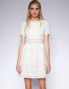 Pixie Market - white lace is so feminine!