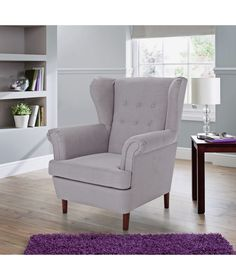 Buy Collection Martha Fabric Wingback Chair   Grey At Argos.co.uk   Your
