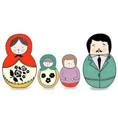 Custom RUSSIAN NESTING DOLL Family -  Matryoshka| Family portrait | Custom Illustration | Made to order portrait (digital file)