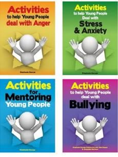 Stephanie George Activities Books (Set of Anxiety Activities, Book Activities, Stephanie George, Effective Learning, Positive Behavior, Stress And Anxiety, Young People, Teaching Ideas, Books