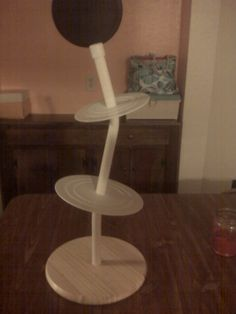 Topsy Turvy Cake Stand - My coworker made this stand for me.  So excited to use it.