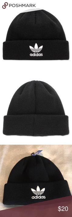 37564221b36f Adidas Originals Men's Trefoil II Knit Beanie New adidas Accessories Hats