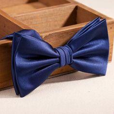 Men's Luxury Formal Navy Blue Bow tie