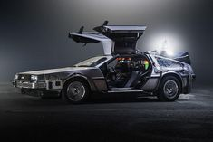 26 years ago, Marty McFly and Doc Brown climbed into their time-traveling flying DeLorean and set the controls to the distant future — October 2015 — which happens to be this. The Future Movie, Back To The Future, Future Car, Dmc Delorean, Delorean Time Machine, Doc Brown, Maserati Ghibli, Marty Mcfly, History Channel