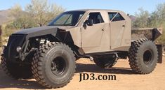 "F-250, V-10 rockcrawler.  Running military beadlocks and 54"" Michelin military tires."