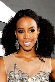 Curly hairstyles, Natural Hairstyles, natural hair, Kelly Rowland, Celebrity hairstyles