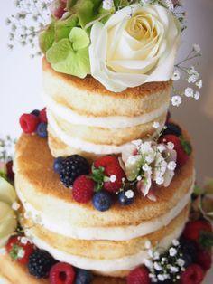 Weddingcake-Naked Cake- Hochzeitstorte - Torte- Berry - Beeren Hochzeitstorte