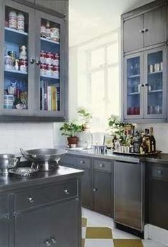 Silver Cabinets