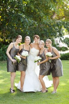 modern bridal party  pretty sure they are lu lu kate or jenny yoo. great pick