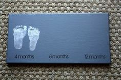 Baby Foot Print Canvas. I wish I would have done this. Maybe next time around... by sarahx