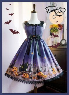 --> For Halloween: Pumpkin Cat ✙♥✙~Halloween Carnival~✙♥✙ High Waist JSK --> Very very limited quantity, will be sold out very quickly, please hurry up if it is a must have for you! --> Learn More >>> http://www.my-lolita-dress.com/pumpkin-cat-halloween-carnival-high-waist-lolita-jumper-dress-pc-41