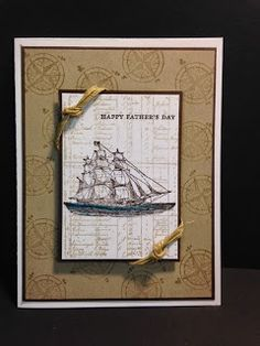 The Open Sea, Father's Day Card, Stampin' Up!, Rubber Stamping, Handmade Cards