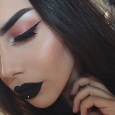 Gothic Black lipstick is not just for dress up! It is also chic and sexy. This Matte Black lipstick is highly pigmented and super long