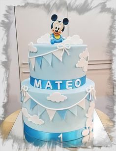 Baby Mickey Mouse + cupcake toppers Baby Mickey Mouse cupcake toppers by Tirki Mickey Mouse Torte, Mickey Birthday Cakes, Festa Mickey Baby, Baby Boy Birthday Cake, Bolo Mickey, Mickey 1st Birthdays, Mickey Mouse First Birthday, Mickey Mouse Cupcakes, Mickey Cakes