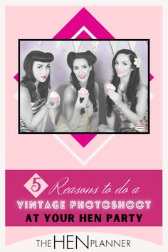 Ready to try something new with your photography at your hen party? Photography allows you to create images of events, times, and places. And keep Classy, stylish, fun of your special day like hen party night, Wedding day alive . A vintage hen party photoshoot is one of the funnest ways to spend a hen party afternoon. #vintagephotography #henpartyideas